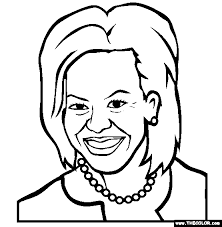 Small Picture First Lady Michelle Obama Online Coloring Page