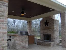 Outdoor Kitchen Roof Outdoor Kitchens With Roof And Fireplaces Creative Fireplaces