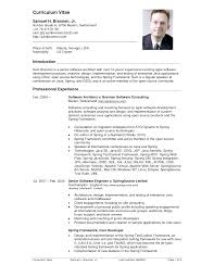 sample cv resumes