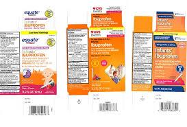 Ibuprofen Concentrated Drops Dosage Chart Recall Of Infant Liquid Ibuprofen Sold At Cvs Walmart