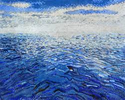 Simple Mosaic Art Designs Simple Mosaic Ocean And Sky Art Sky Art Mosaic Art Mosaic