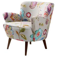 floral accent chairs living room. sophie floral accent chair (.), white (wood) chairs living room