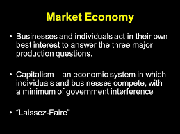 economic systems the major production questions what to produce  market economy businesses and individuals act in their own best interest to answer the three major