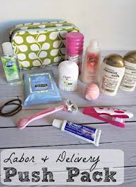 diy push pack for mom s hospital bag future good to knows hospital bag hospital bag for mom to be and baby