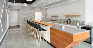 This Modern Coffee Shop Has A Palette Of Grey, White, And Wood |  CONTEMPORIST