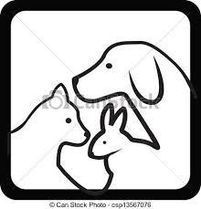 シルエット ねこ 丸太 うさぎ 犬