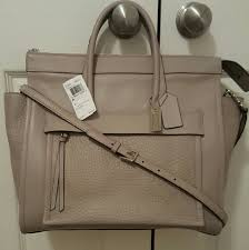 Coach Bleecker Riley Carryall Satchel Grey Birch