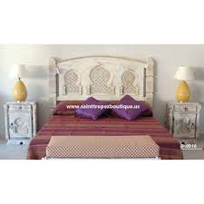 Importer of Moroccan furniture, Moroccan wood bed frame, Moorish headboard