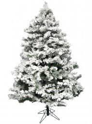 Flocked Antarctic Pine Christmas Tree - 2.3m
