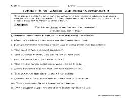 Englishlinx | Subject And Predicate Worksheets - FREE Printable ...