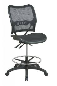modern drafting chair. Deluxe Drafting Chair With Air Grid Seat And Back Chairs Brown Wooden Floor Modern