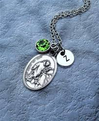 personalized saint john of necklace