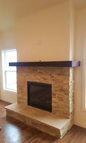 natural stone veneer fireplace installation