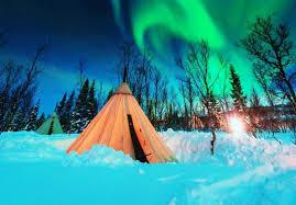 Northern Lights Camping And Caravan Park Overnight Reindeer Sledding And Northern Lights
