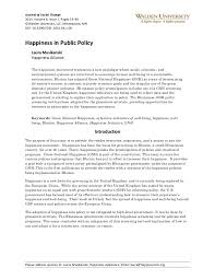 happiness in public policy an essay from the journal for social cha  journal of social change 2014 volume 6 issue 1