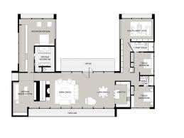 house plans u shaped ranch floor with courtyard australia l vastu