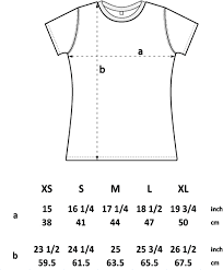 Clothing Conversion Chart Inches To Size Womens Polaroid T Shirt Size Chart Stori Clothing