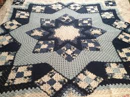 79 best Crochet Patchwork Quilt Afghans images on Pinterest ... & Blue Star Afghan by Kathy Blakely. Made for my mom :-) Adamdwight.com