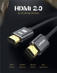 Vothoon 4K 60Hz HDMI 2.0 Cable HDMI to HDMI Cable Ethernet Cable for PS3  Projector HD LCD Apple TV Computer laptop to Displayer|HDMI Cables