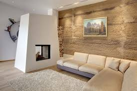 Warm Living Room Decor Warm Living Room Decor With Texture Wall And Carpet Wood Flooring