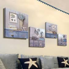 Living Room Canvas Paintings Aliexpresscom Buy Canvas Painting 4panels The Sea Shells