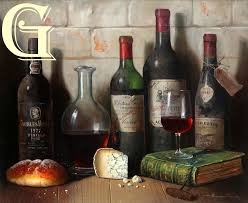 raymond campbell original oil painting classics of bordeaux