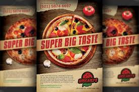 Pizza Restaurant Advertising Flyer ~ Flyer Templates ~ Creative Market