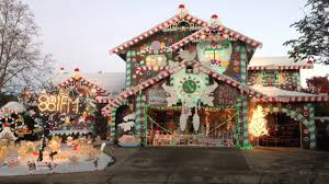 Gingerbread Outdoor Lights Gingerbread House Christmas Lights Youtube