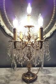 crystal chandelier table lamp image permalink