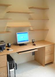 floating office desk. office floating shelves perfect desk on metal file cabinets diy deskthe f