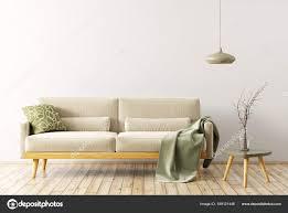 Interieur Van Een Woonkamer Met Sofa 3d Rendering Stockfoto