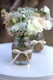Wedding Table Decorations Jam Jars Shabby Chic Wedding Ideas Twine Jar and Wraps 1