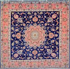 Square Royal Blue Wool Persian Rug Item 248