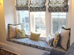 Bedroom:Astonishing Blue Bay Window Seating With Luxury Chandelier Design  Idea Awesome Beautiful Gray Floral