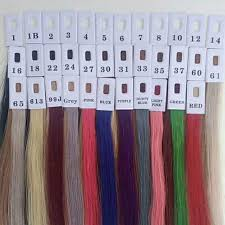 35 Colors Human Hair Color Ring For All Kinds Of Hair Extensions Color Chart For Tape Tip Hair Extensions