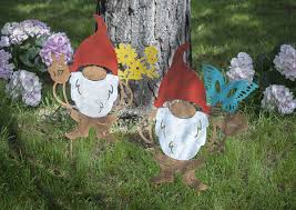 whole gnome garden stakes 2 pc