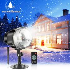Lights That Look Like Snow Falling Snowfall Christmas Led Light Projector Rotating Snow Falling Projector Lamp With Remote Ip65 Waterproof Outdoor Indoor Dynamic Snow Effect Spotlight