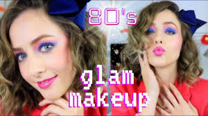 easy 80 s makeup hair tutorial for