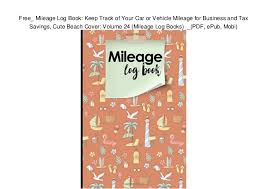 Free_ Mileage Log Book Keep Track Of Your Car Or Vehicle