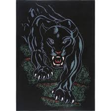 Details About Black Panther Tribal Tattoo Jaguar Area Rug Modern African Animal Carpet