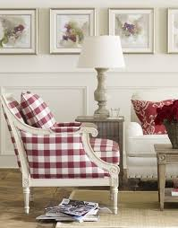 red and white furniture. cottage dcor red and white ginghambuffalo check chair ethan allen furniture