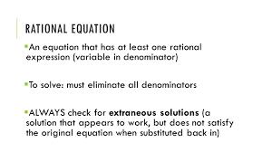 solving rational equations 2 rational