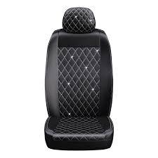 premium diamond seat cover with crystals from swarovski black com