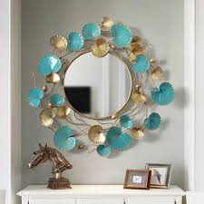 detail feedback questions about big metal wall mirror round wall mirror with metal frame hanging mural retro wall mirror for living room home decoration