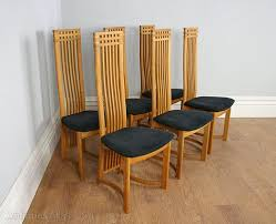 high back chairs for dining table. six actona art deco oak high back dining chairs for table e