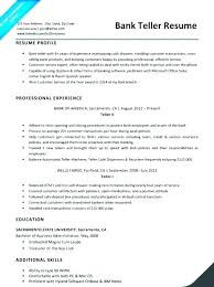 Resumes For Bank Bank Teller Duties For Resume Mmventures Co