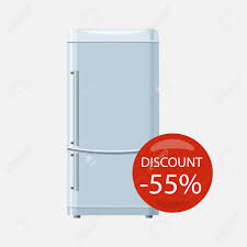Appliances Discount Sale Of Household Appliances Electronic Device With Red Bubble