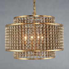lachina chandelier w slim frame and brushed gold finish h7128b 4 lighting etc