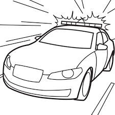 Free Cop Car Coloring Page To Print Out Transportation Coloring