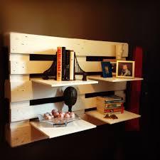 wooden crate shelf